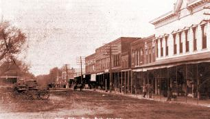 North Side of Paola Square pre 1900