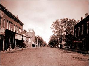 Peoria Street looking East pre 1900