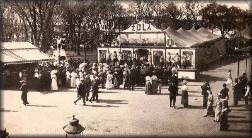 Patterson Circus performs on the Paola Park Square in 1913