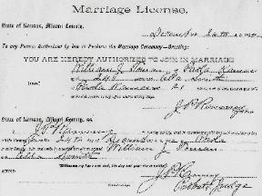 Toman Marriage License